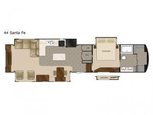 Mobile Suites 44 Santa Fe Floorplan Image