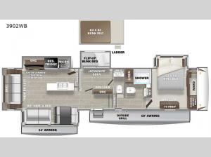 Sanibel 3902WB Floorplan Image