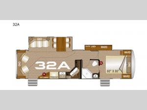 Arctic Fox North Fork 32A Floorplan Image