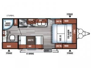 Salem Cruise Lite 171RBXL Floorplan Image