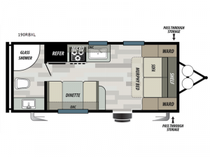 Salem Cruise Lite 190RBXL Floorplan Image