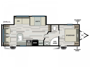 Salem Cruise Lite 254RLXL Floorplan Image