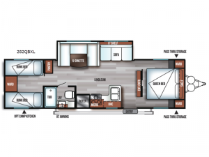 Salem Cruise Lite 282QBXL Floorplan Image