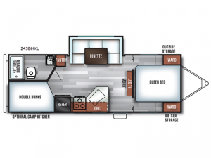 Salem Cruise Lite 243BHXL Floorplan Image