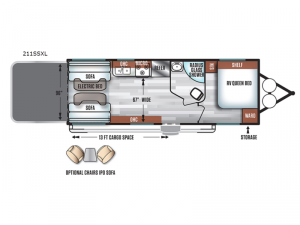 Salem Cruise Lite 211SSXL Floorplan Image