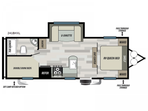 Salem Cruise Lite 241BHXL Floorplan Image