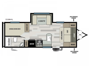Salem Cruise Lite 221BHXL Floorplan Image