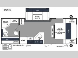 Surveyor 243RBS Floorplan Image