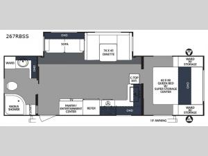 Surveyor 267RBSS Floorplan Image