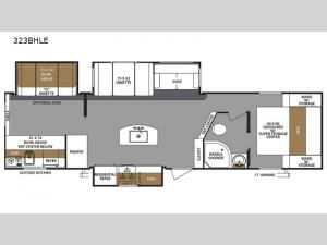 Surveyor 323BHLE Floorplan Image