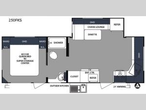 Surveyor 250FKS Floorplan Image