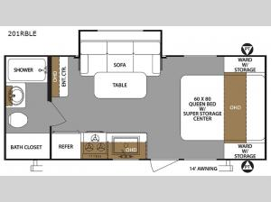 Surveyor 201RBLE Floorplan Image