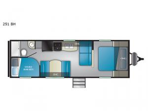 Trail Runner 251 BH Floorplan Image