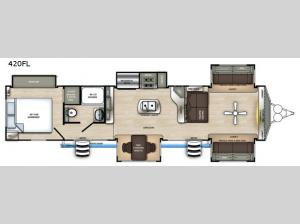 Sierra Destination Trailers 420FL Floorplan Image