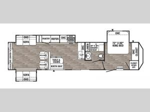 Puma Destination 38DEN Floorplan Image