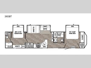 Puma Destination 39DBT Floorplan Image