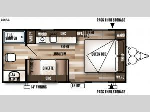 Salem Cruise Lite FSX 186RB Floorplan Image
