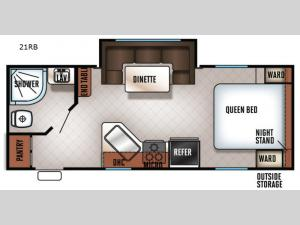 Cherokee Grey Wolf 21RB Floorplan Image