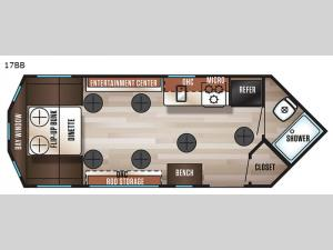 Cherokee Grey Wolf 17BB Floorplan Image