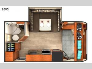 Lance Travel Trailers 1685 Floorplan Image