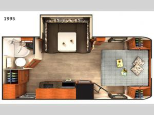 Lance Travel Trailers 1995 Floorplan Image
