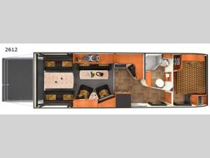 Toy Hauler 2612 Floorplan Image