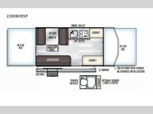 Rockwood Extreme Sports 2280BHESP Floorplan Image