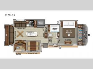 Eagle 317RLOK Floorplan Image