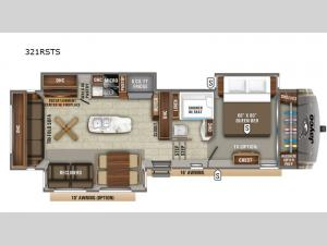 Eagle 321RSTS Floorplan Image