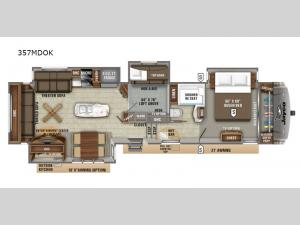 Eagle 357MDOK Floorplan Image