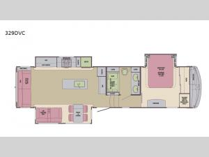 Columbus Compass 329DVC Floorplan Image