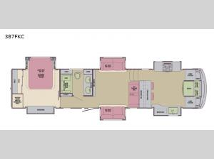 Columbus Compass 387FKC Floorplan Image