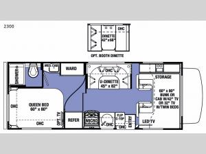 Sunseeker 2300 Chevy Floorplan Image