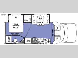 Sunseeker Grand Touring Series 2430S Floorplan Image