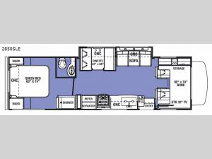 Sunseeker LE 2850SLE Chevy Floorplan Image
