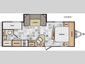 Minnie 2451 BHS Floorplan Image
