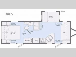 Minnie 2500 FL Floorplan Image