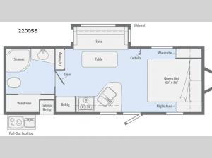 Minnie 2200 SS Floorplan Image