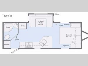 Minnie 2250 DS Floorplan Image