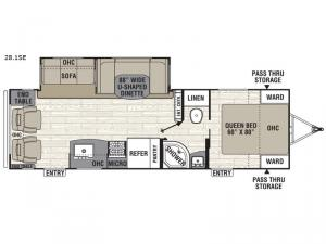 Freedom Express Select 28.1SE Floorplan Image