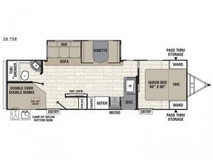 Freedom Express Select 28.7SE Floorplan Image