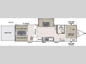 Patriot Edition 301BLDS Floorplan Image