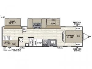 Patriot Edition 31SE Floorplan Image