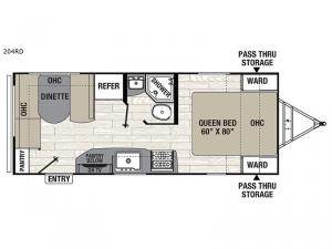 Patriot Edition 204RD Floorplan Image