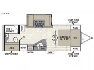 Patriot Edition 231RBDS Floorplan Image