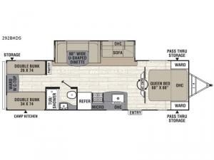 Patriot Edition 292BHDS Floorplan Image
