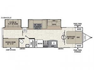 Patriot Edition 310BHDSLE Floorplan Image