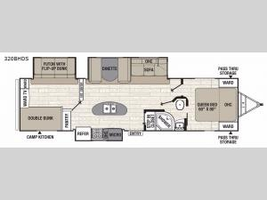 Patriot Edition 320BHDSLE Floorplan Image