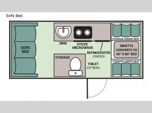 Expedition Sofa Bed Floorplan Image