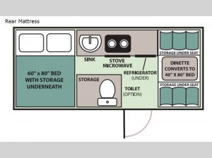 Expedition Rear Mattress Floorplan Image